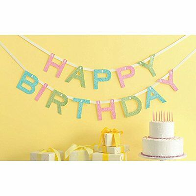 "Martha Stewart-Glittered Garland 10 ""-Happy Birthday"" e altri, (o8s)"