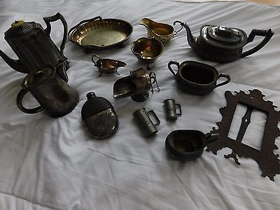 antique teapots and other objects