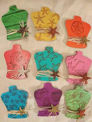 135 Glitter Small Earring cards, display cards jewelry holders, seashells, beach
