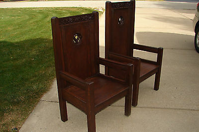 Vintage Set of Church Alter Chairs by Alois Lang - American Seating Co