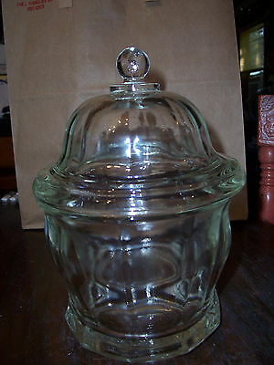 Antique Clear Glass Apothecary Jar with Lid