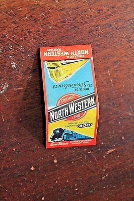 "Chicago and North Western Line The Streamliners & Route of ""400"" Matches Unused"