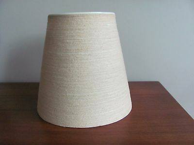 "Vtg MCM BOSTLUND LAMP SHADE FIBERGLASS JUTE for Small Lotte Lamp 9 1/2"" tall Ex!"