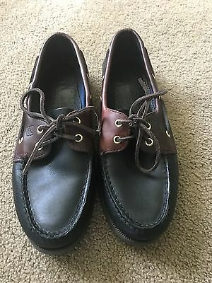 Sperry Top-Sider Authentic Original 2-Eye Boat Shoe  - Mens 10M Black/Ameretto
