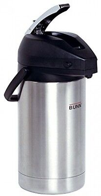 Stainless Steel 3.0-Liter Lever-Action Airpot Keeps Coffee Water Hot for Hours