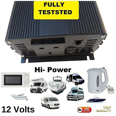 Motorhome Boat 12v 240v Fully Tested Inverter For Microwave 12 Volt Campervan