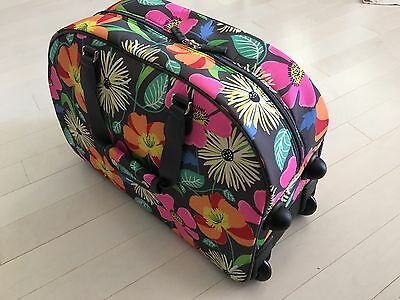 Vera Bradley JAZZY BLOOMS Rolling Duffel Carry On Travel Luggage Suitcase NEW