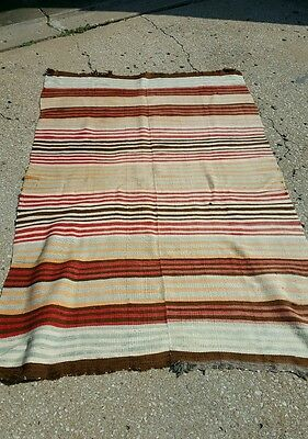 Large Striped Antique Rio Grande Indian Rug