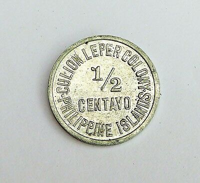 1913 1/2 Centavo Philippines Island Culion Leper Colony Coin High Value