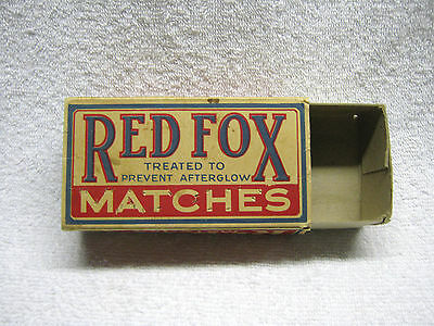 Antique Red Fox Country Store Kitchen  Matches Box