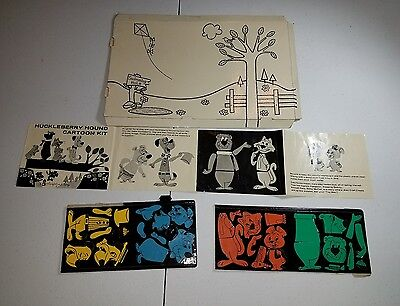 Colorforms Huckleberry Hound Cartoon Kit 1960 Hanna-Barbera Yogi Bear Mr Jinx
