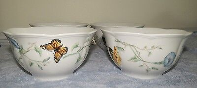 """LENOX Butterfly Meadow 5 1/2"""" Rice Bowl Set of 4 - NEW In Box"""