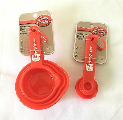New Betty Crocker Measuring Cups & Spoons Set Baking Cooking Kitchen Freepost