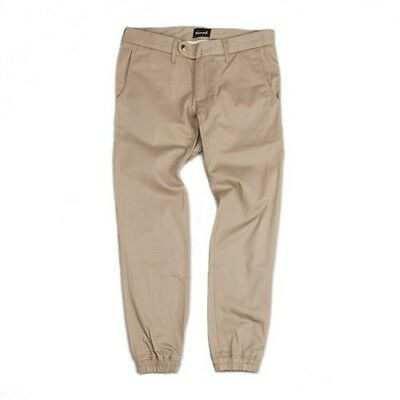 Diamond Supply Co. Abgebaut Chino Jogger Enganliegend Hellbraun Kleidung/Hose