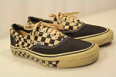 Vintage OG Vans Shoes Men Size 9.5 USA Old School Checkers-Sole Low Top