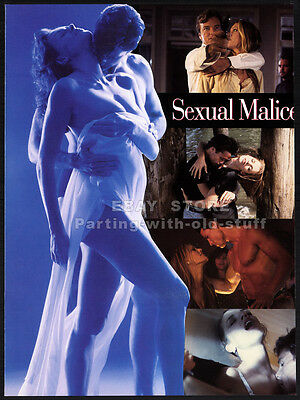 SEXUAL MALICE__Orig. 1994 Trade AD Die-Cut promo__KATHY SHOWER_SAMANTHA PHILLIPS