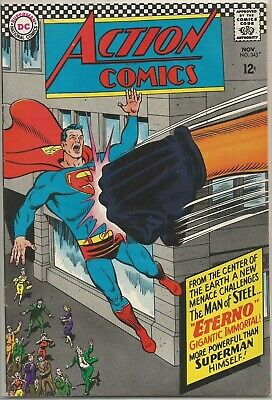 Action Comics #343 DC Superman 1966 Silver Age Comic FN+/VF- (w.Supergirl Story)