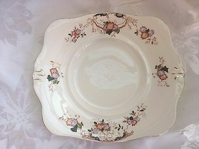 Vintage - Tuscan China - Made In England - Cake Plate - 24 X 22Cm