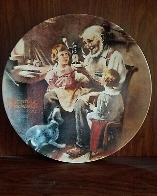 """1977 Norman Rockwell's """"The Toy Maker"""" collector plate 18,938G"""