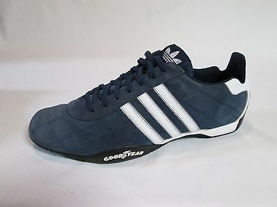 Adidas Tuscany Size 13 Men's Shoes Blue Suede Leather Racing Goodyear Nice!!
