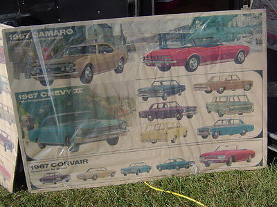 1967 Chevrolet  Showroom Advertising Poster Sign- 60x40