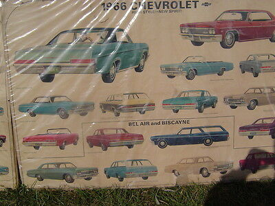 1966 Chevrolet   Showroom Advertising Poster Sign- 60x40
