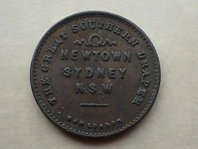 1890 Marcus Clark Draper New South Wales Australia Token Vf