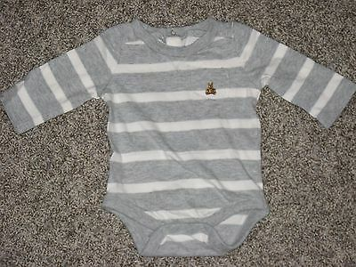Baby GAP Gray/White Striped One Piece Size 0-3 months