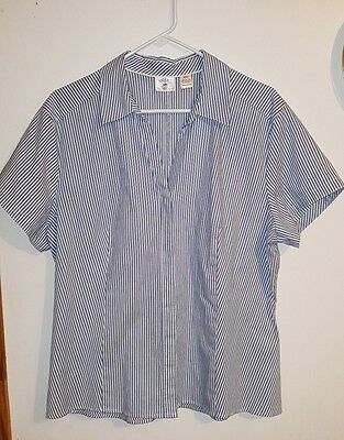 Women's plus short sleeve Riders by Lee blouse shirt top size 2X