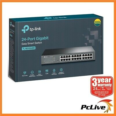 NEW TP-Link TL-SG1024DE 24-Port Gigabit Easy Smart Switch Management Rackmount