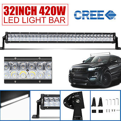 32INCH 7D+ 420W CREE LED Combo Work Light Bar Offroad Driving Lamp 4WD SUV VS 50