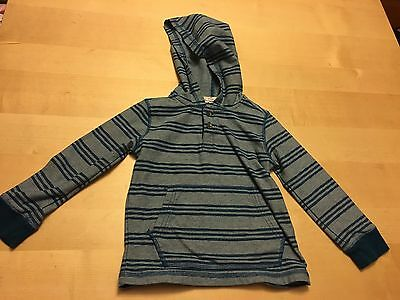 Crazy 8 Striped Hooded Pullover, Blue, Boys Size 3t , Cute Item!