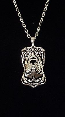 "Chinese Shar Pei - Necklace, Pendant  18"" chain"