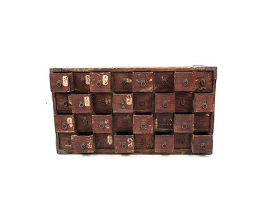 RARE Japanese Antique Medicine Chest 32 Drawer Cabinet Tansu Edo Period Alchemy