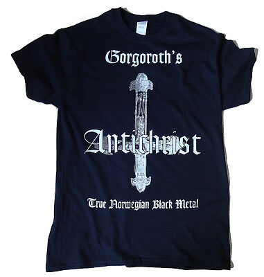 SHIRT Gorgoroth - Antichrist // S - XL // Pentagram Norwegian Black Metal Mayhem