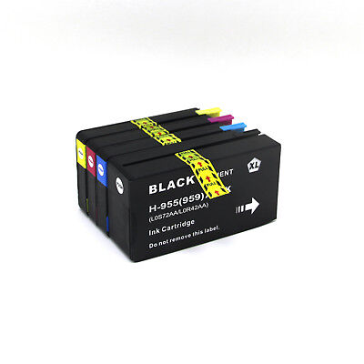 4pcs 955XL 955 Ink Cartridge Compatible for HP Officejet Pro 7740 8745 8710 8740
