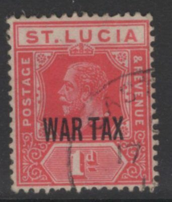 ST.LUCIA SG90 1916 1d SCARLET FINE USED
