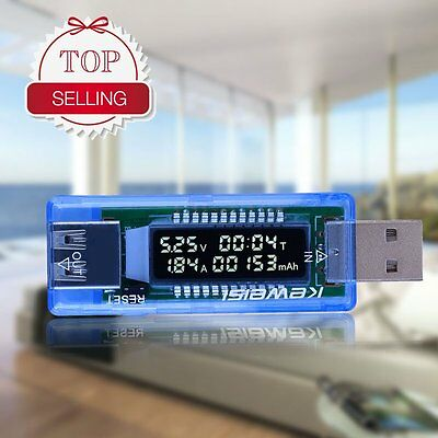 Hot USB Volt Current Voltage Doctor Charger Capacity Tester Meter Power Bank DT