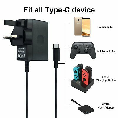 MGS Branded USB Mains charger -Black-2.6A For Nintendo Wii Switch - Black