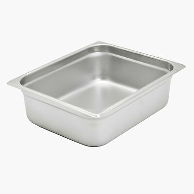 "Brand New Update International (NJP-504) 4"" Half-Size Anti-Jam Steam Table Pan"