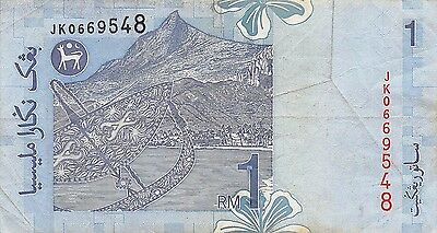 Malaysia  1  Ringgit   ND. 1998  Series  JK  Circulated Banknote SD0717W