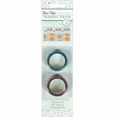 Grace Taylor Forest Friends Paper Craft and Embellishment - Washi Tape 2pk