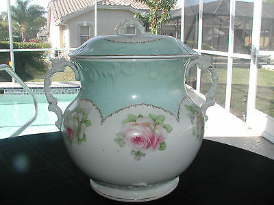 Victorian Floral Chamber Pot Excellent Condition Pre 1880 Great Decorating Piece