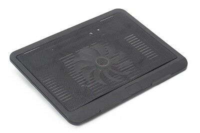 Q19 USB Cooling Fan Pad for Laptops, Notebooks- Ultra Thin Cooling Base - Black