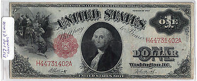 1917 united states note BANKNOTE COLUMBUS RED SEAL NOTE US CURRENCY