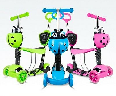 Durable 5 in 1 Mini kick Child Scooter With Light Up Wheels Babies Toddlers Kids