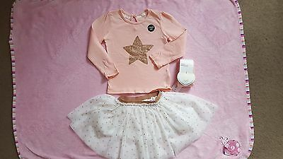 3 piece set baby girl party outfit NEW 18-24