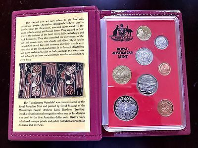 Prod Set 1990 Royal Australian Mint Complete 8 Coins Set W/ COA In Case