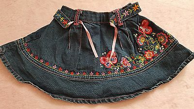 Baby girl denim skirt Butterfly 12-18 BEAUTIFUL