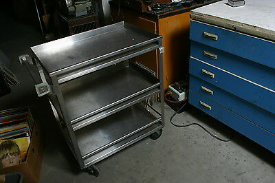 """Lakeside 19""""x31""""x33-3/4"""" Stainless Steel Utility Cart - 526"""